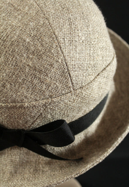 "Tumble Washed Linen ""Croisette"" Cloche Hat"