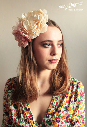 "Blush ""Sarah"" Flower Headpiece"