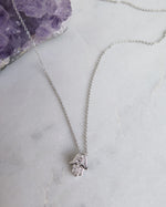 CZ HAMSA NECKLACE- Sterling Silver
