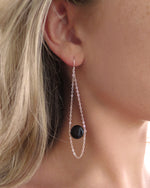 AGATE TEARDROP EARRINGS