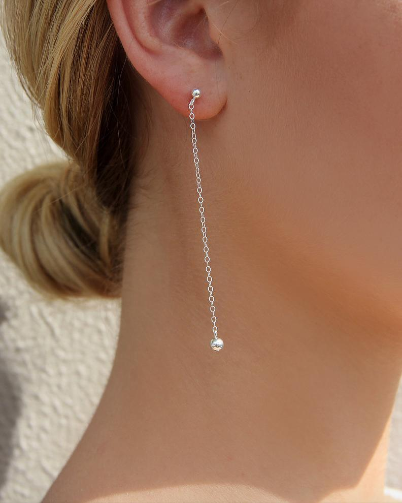 CLASSIC DROP EARRINGS- Sterling Silver