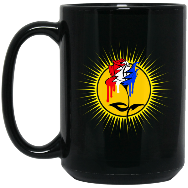 Dripping Grateful Rose 15 oz. Black Mug
