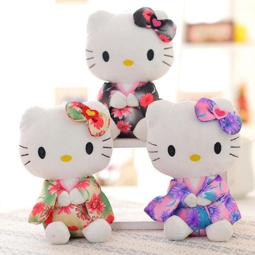 2 x Extra Cute Kitty Stuffed Toy Dolls - Swag Factory