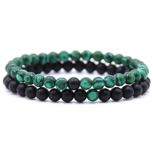 Natural Stone Mixed Beads Bracelet (2pcs/set) - Swag Factory