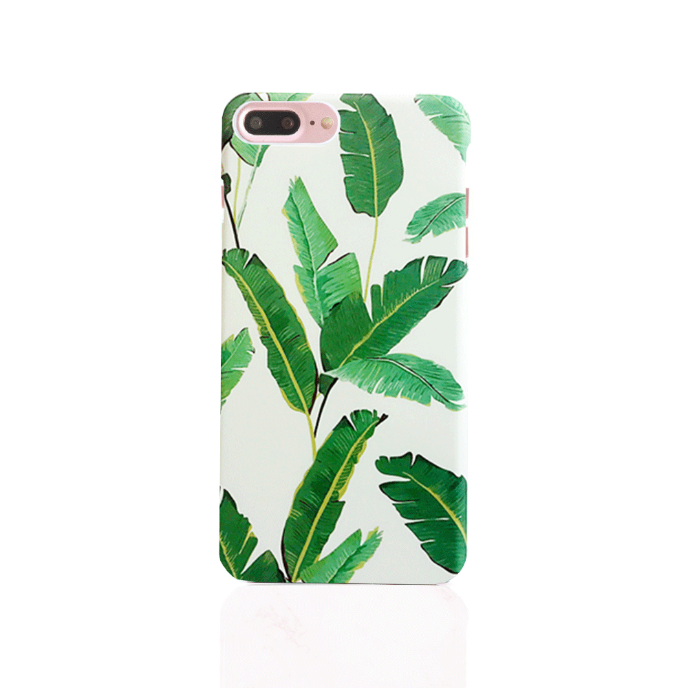 iPhone Case - Green Banana Palm Leaf - colourbanana