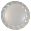 Pearly White Petalo Charger Plates - 5/pk