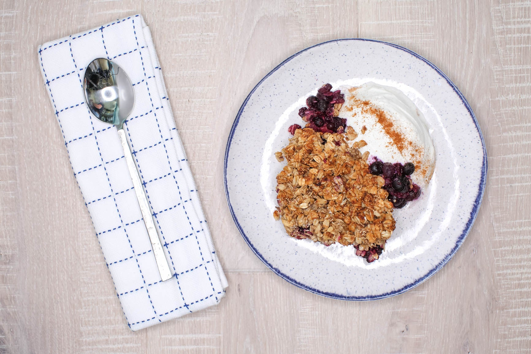 Breakfast Berry Crisp w/ Side of Greek Yogurt