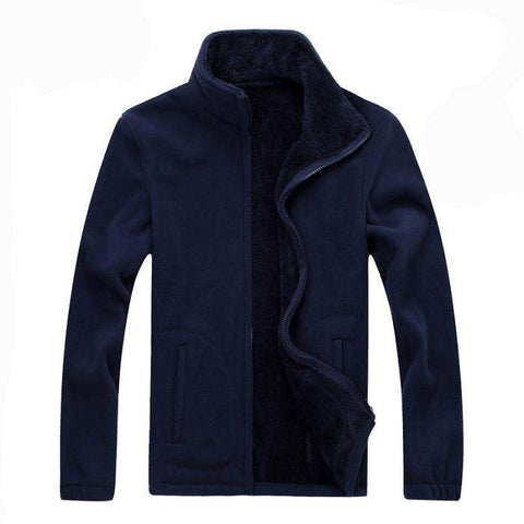 Casual Jackets Men Warm Sweatshirt Thermal Coats Solid Thickened