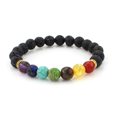 7 Chakra Charm Bracelets & Bangle with Colorful Stones