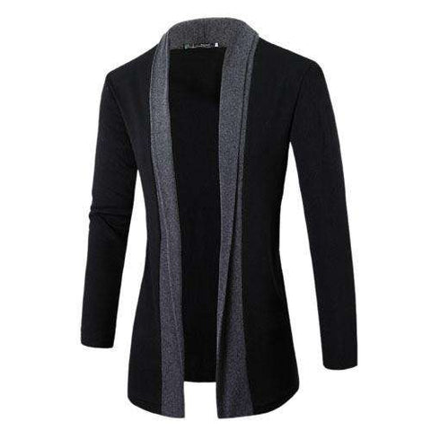 Casual Long Cardigan Mens Knitted Sweater Jumpers