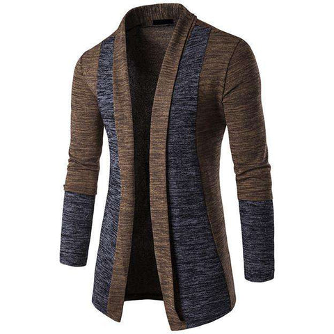 Long Sleeve Male Cardigan Sweater Slim fit Casual
