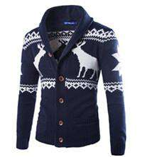 Knit Crew Casual Cardigan Sweaters Men