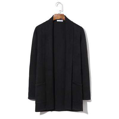 Long Mens Cardigans Simple Daily Turn-Down Collar Casual