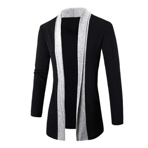 Casual Long Sleeve Patchwork Mens Sweaters