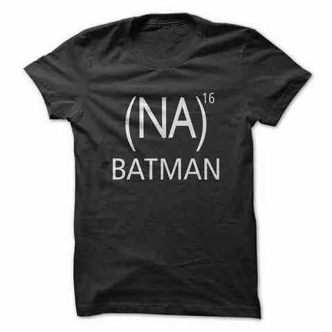 (NA)16 Batman Casual Short Sleeve T-Shirt Black Women