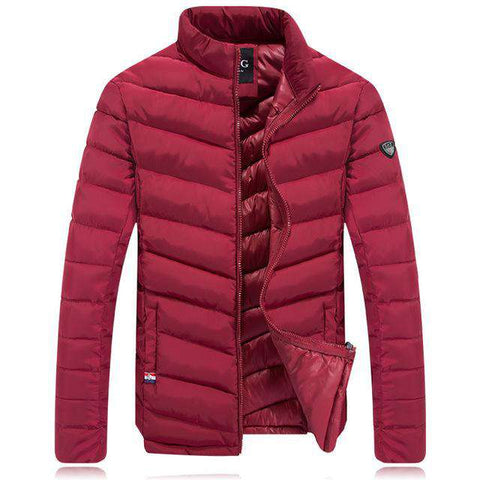 Casual Slim Fit Cotton Padded Winter Jacket Men