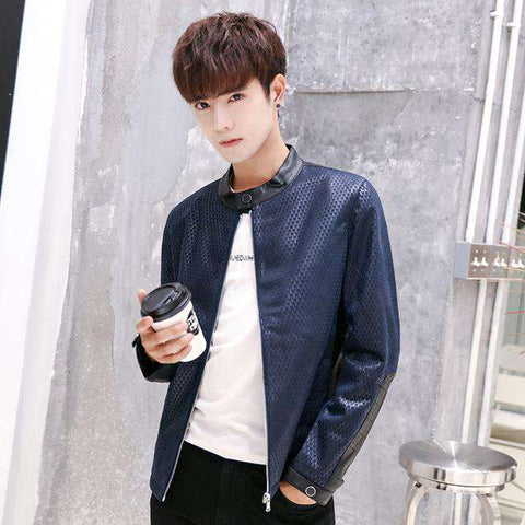 Casual Slim Comfortable Male Spliced Popular Jacket
