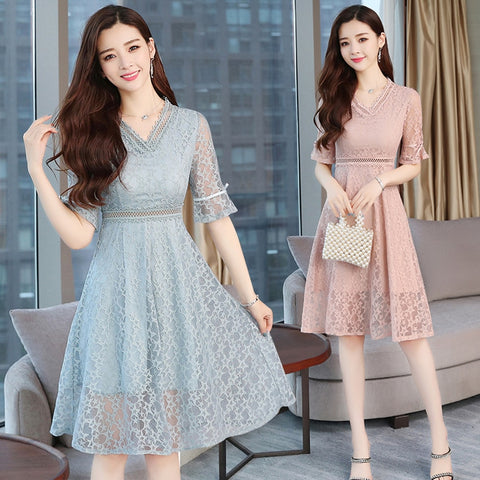 Woman Summer Casual Elegant Lace dress
