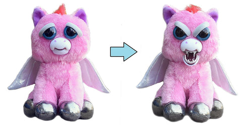 "Feisty Pets by William Mark- Sparkles Rainbowbarf- Adorable 8.5"" Plush Stuffed Pegasus That Turns Feisty With a Squeeze!"