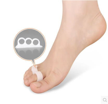 White Gel Toe Separators Stretchers Alignment Bunion Pain Relief