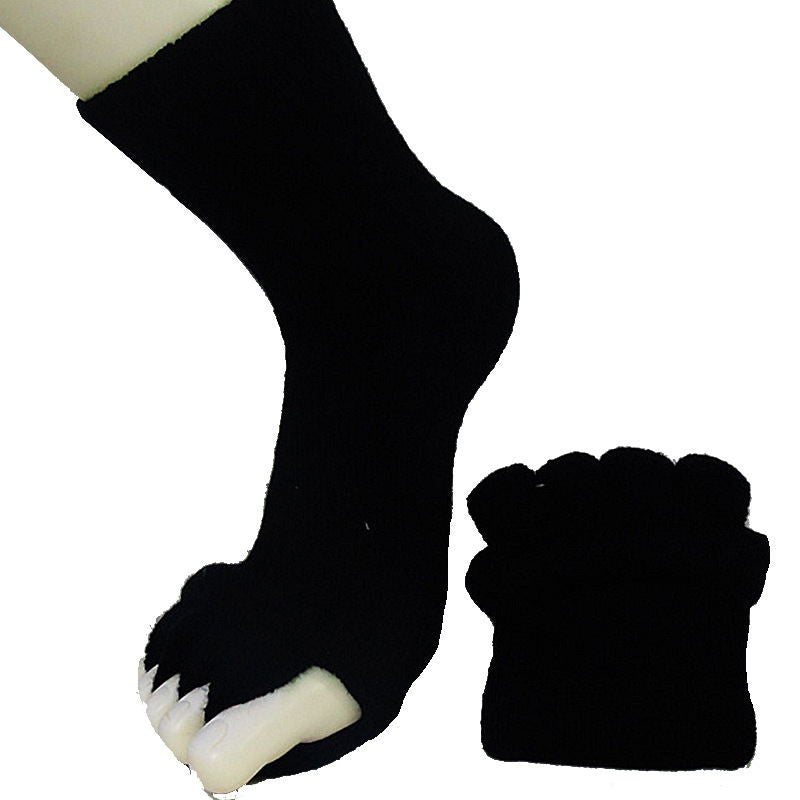 Yoga Sports GYM Five Toe Separator Socks Alignment Pain Health Massage Socks