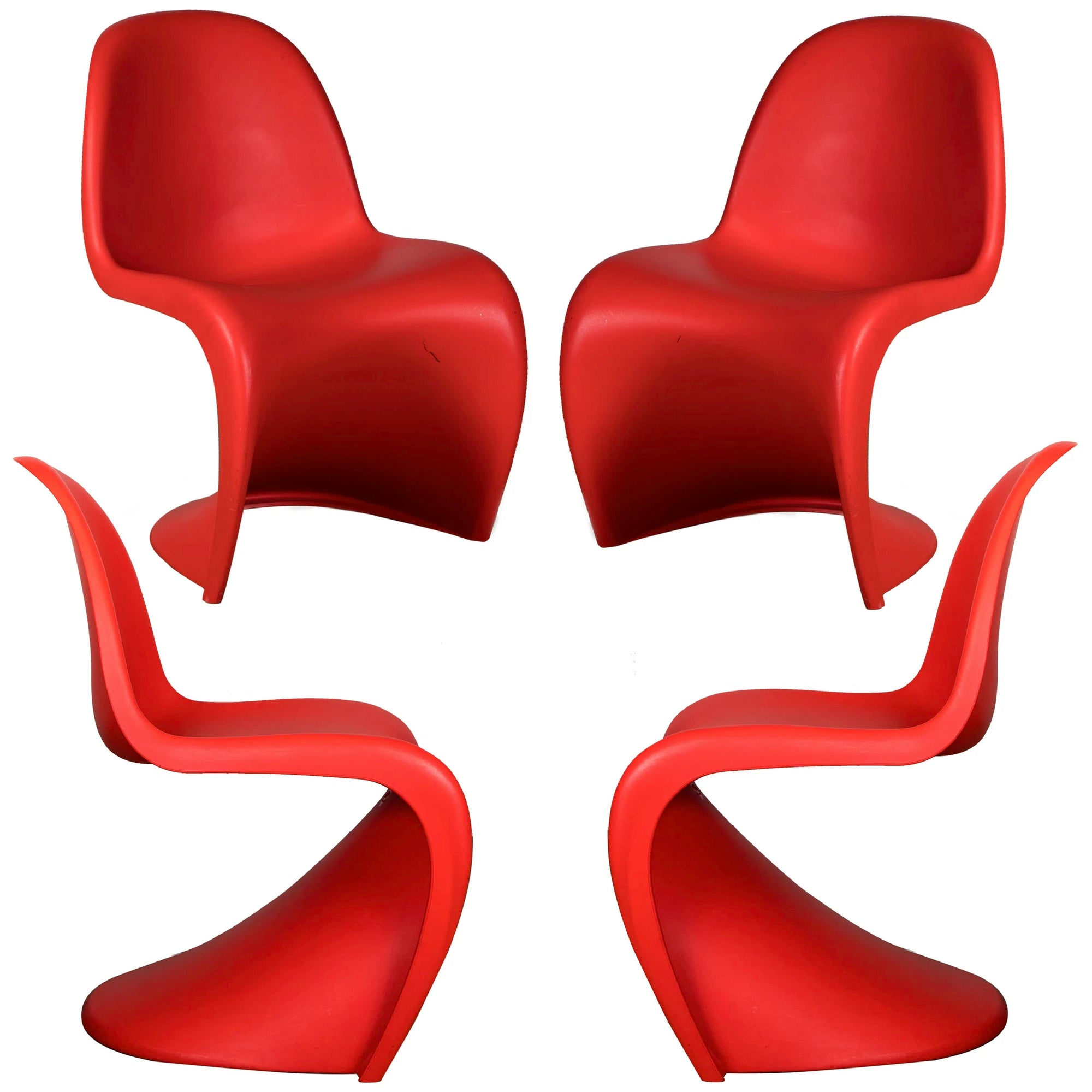 red vernor panton chairs