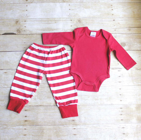 My first Christmas infant pajamas - Atlanta Monogram