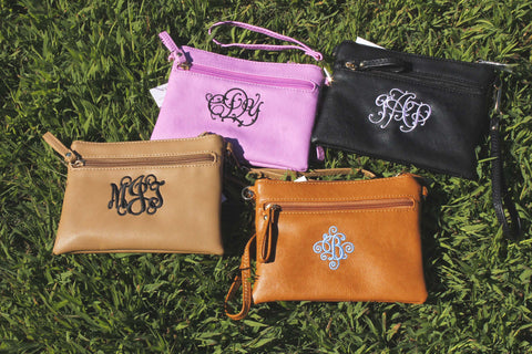 Monogrammed Personalized Hipster purses - Atlanta Monogram