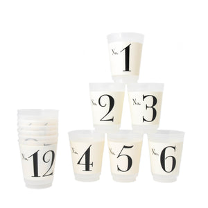 Black & White 1-12 Tumblers - LoveEmme, Product_Type, Product_Vendor