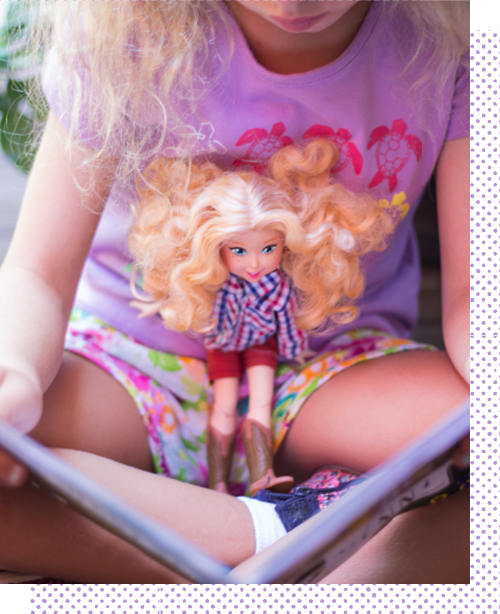 We are a subscription for kids and parents with Doll characters at the center