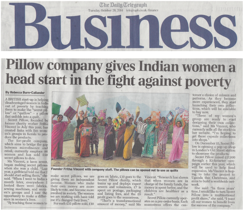 The Telegraph Business Section - Tuesday 28th Oct 2014