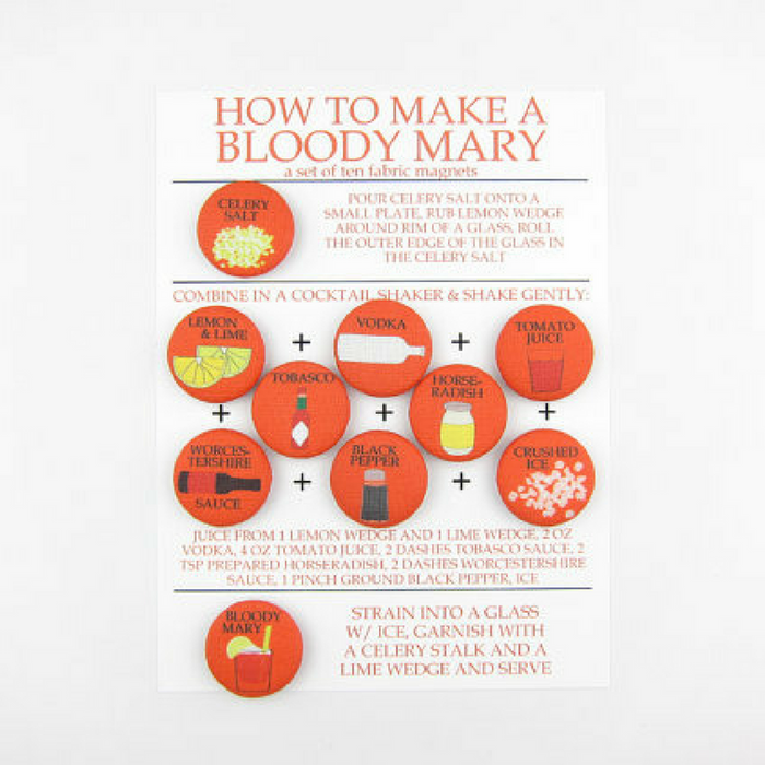 Bloody Mary Instructional Magnets - Gifted and Present