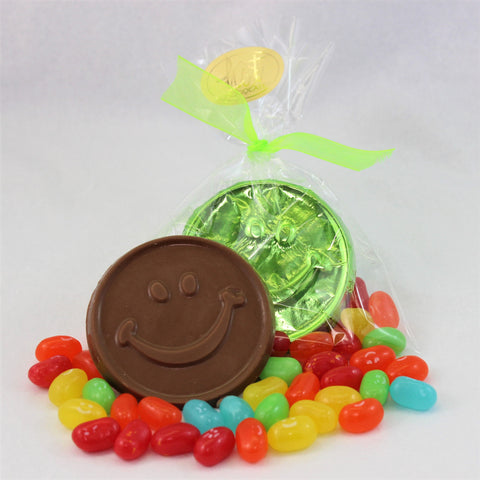 Happy Face Coin & Jelly Bellies