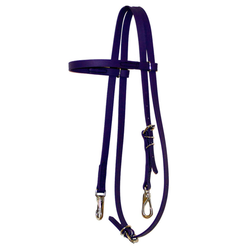 Purple Biothane Headstall with S.S. Clips