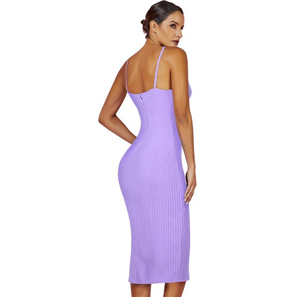 LAVENDER SUMMER MIDI DRESS - Revossa