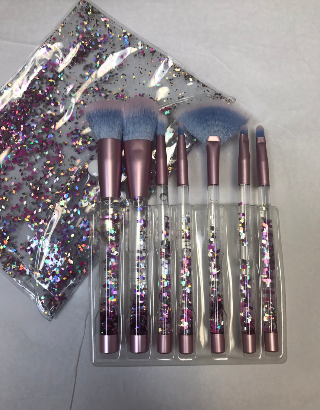 Aquarium Glitter Makeup Brush Set 7pcs