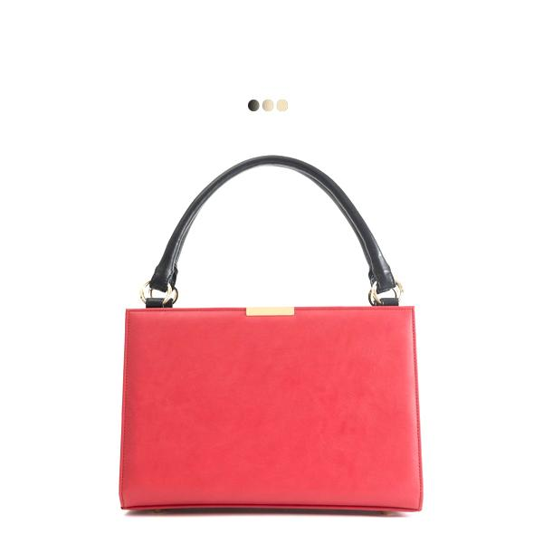 Medium Red Solid Interchangeable Bag (Base+Skin)