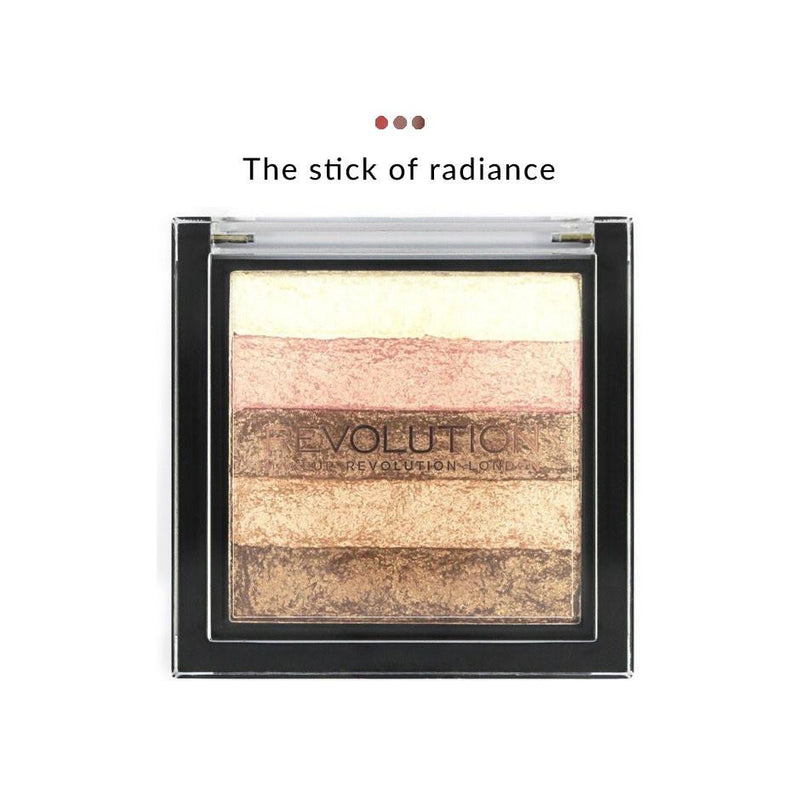 Combo - Vivid Shimmer Highlighter : Brick Radiant