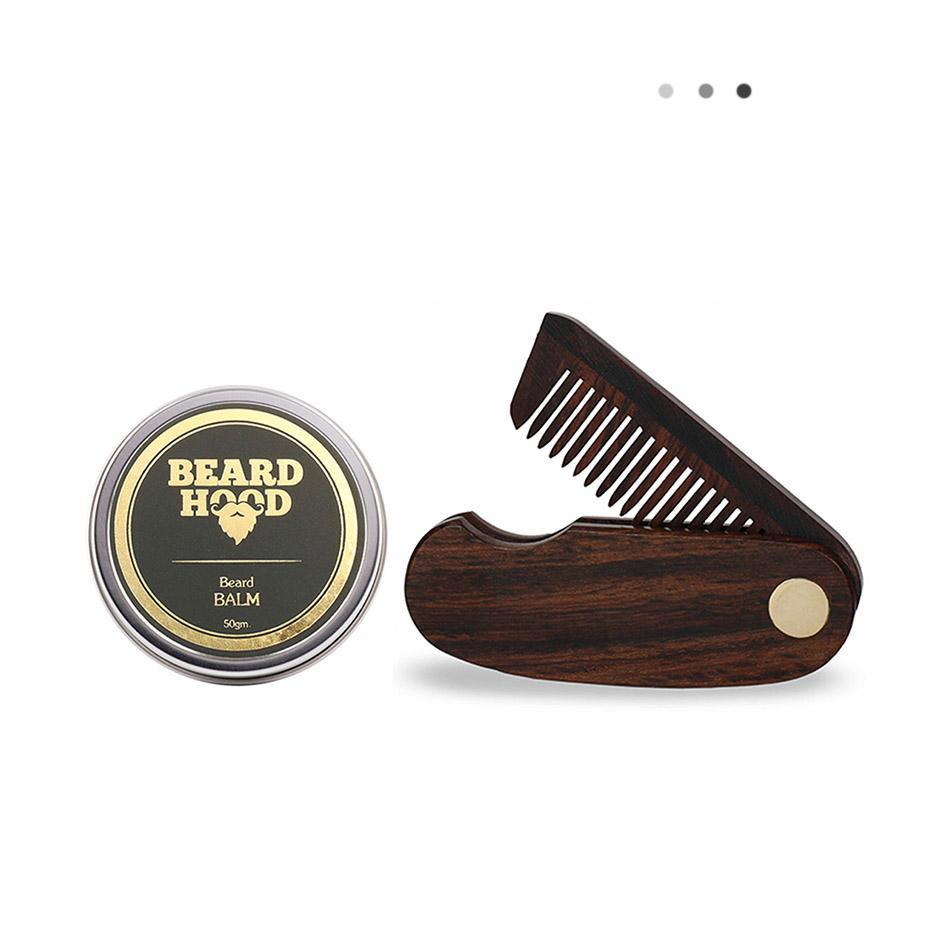 Essentials For Gentlemen - Beard Balm & Folding Beard Comb