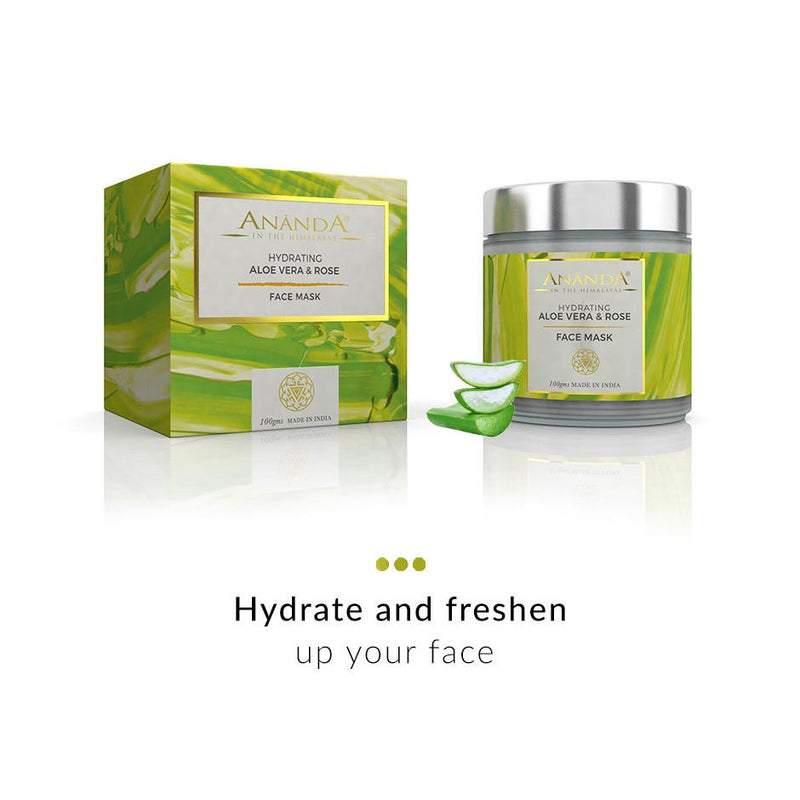 Face Mask - Hydrating Face Mask-Aloe Vera And Rose