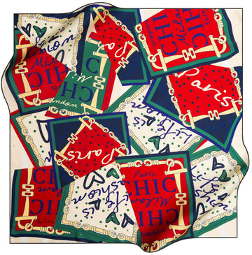Pierre Cardin Soei So French Scarf No. 11 Pierre Cardin,Silk Scarves Pierre Cardin