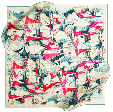 Pierre Cardin Luxury Foulard Weekender No. 52 Pierre Cardin,Silk Scarves Pierre Cardin