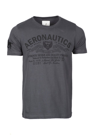 Polo Haus - Aeronautics Graphic S/S RN Tee (Dark Grey)