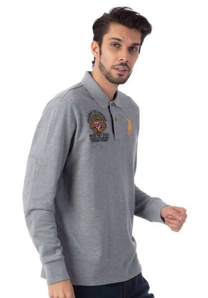 Polo Haus - Us Map L/S Collar Tee (Grey)