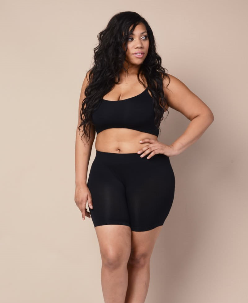 Plus Size Shapewear Shorts - Black