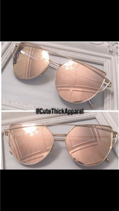 Cat Eye Rose Gold Sunglasses