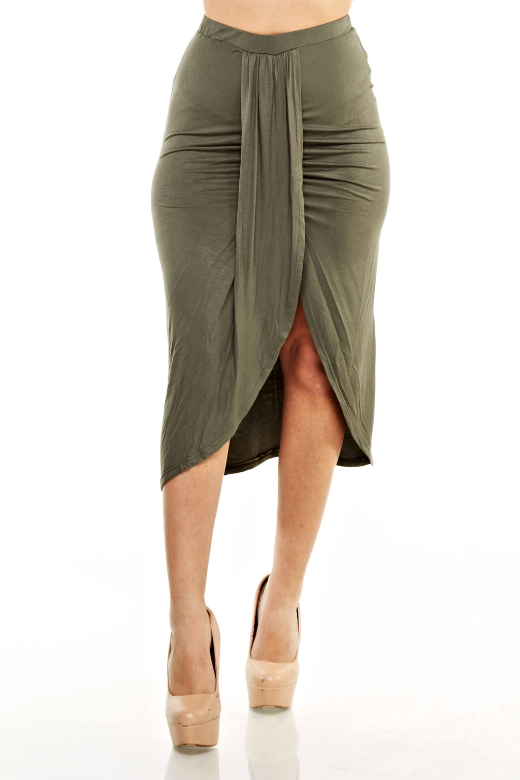 Draped Hi-Lo Summer Skirt Plus Size