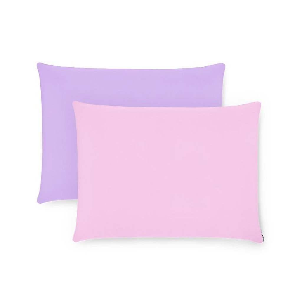 2 Pack Pink & Purple Silk Pillowcases