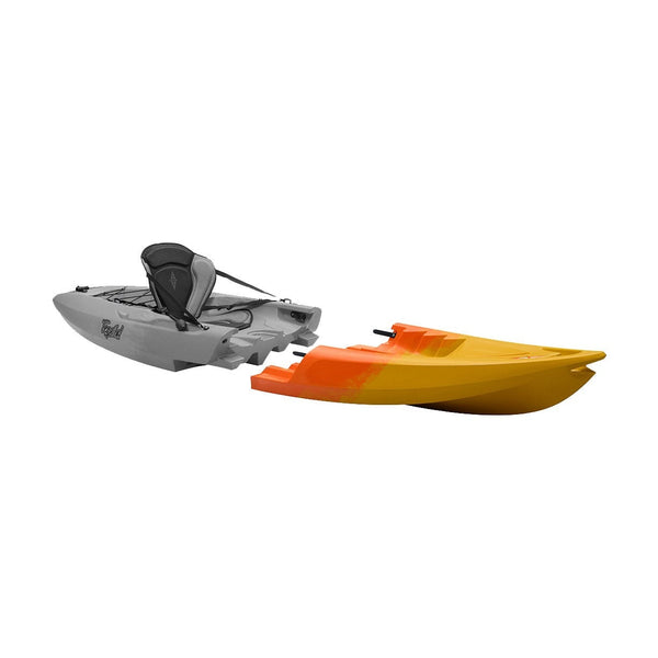 Point 65 Tequila! GTX Modular Kayak - Front Section - Yellow/Orange - Kayak Creek