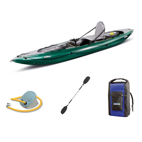 Innova Halibut Inflatable Fishing Kayak Bundle | Paddle & Pump - Kayak Creek